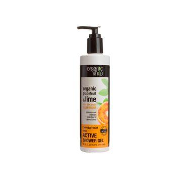 Organic Shop Organic Grapefruit & Lime Active Shower Gel grejpfrutowy aktywny żel pod prysznic 280ml