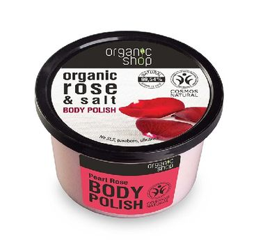 Organic Shop peeling do każdego typu skóry perłowa róża 250 ml