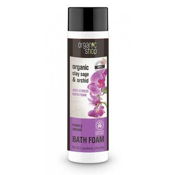 Organic Shop płyn do kąpieli antystresowy purpurowa orchidea 500 ml