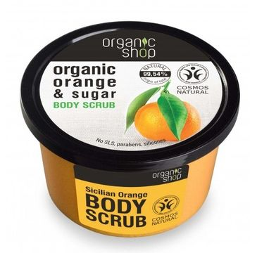 Organic Shop scrub do ciała Sicilian Orange ujędrniający 250 ml