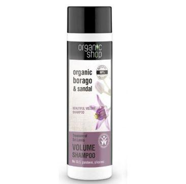 Organic Shop Skarby Sri Lanki szampon do włosów maksymalna objętość 280 ml