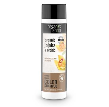 Organic Shop szampon do włosów farbowanych i matowych, złota orchidea 280 ml