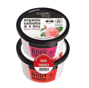 Organic Shop – zestaw Mus Truskawkowy i krem Kamelia Japońska (1 szt.)