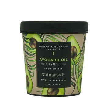 Organik Botanik Avocado Oil with Kaffir Lime Body Butter masło do ciała z olejem awokado i liśćmi kaffiru (200 ml)