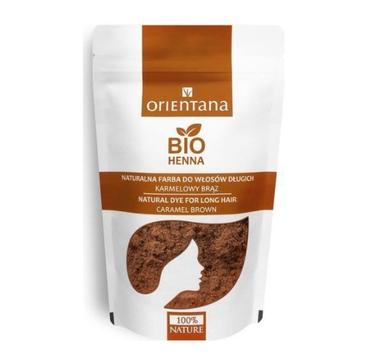 Orientana Bio Henna naturalna farba do włosów Karmelowy Brąz 100 g