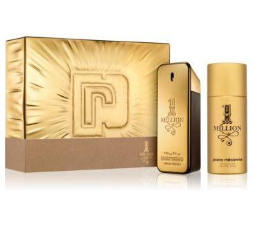 Paco Rabanne – 1 Million Men zestaw woda toaletowa spray 100ml + dezodorant spray 150ml (1 szt.)