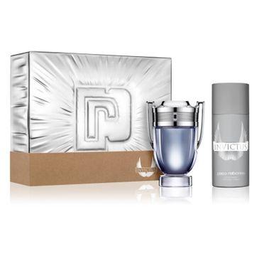 Paco Rabanne – Invictus zestaw woda toaletowa spray 100ml + dezodorant spray 150ml (1 szt.)