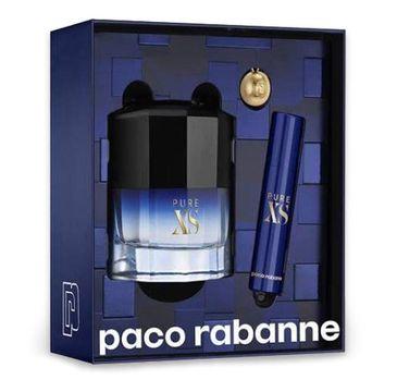 Paco Rabanne Pure XS zestaw prezentowy woda toaletowa spray 50 ml + miniatura wody toaletowej 10 ml + breloczek