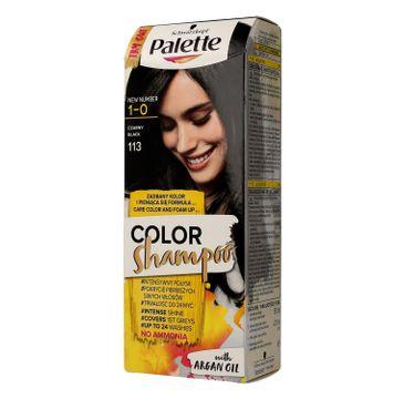 Palette Color Shampoo szampon do każdego typu włosów koloryzujący nr 113 czerń 50 ml