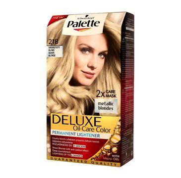 Palette Deluxe farba do każdego typu włosów permanentna nr 218 srebrzysty blond 110 ml