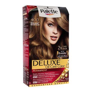 Palette Deluxe farba do każdego typu włosów permanentna nr 400 średni blond 110 ml