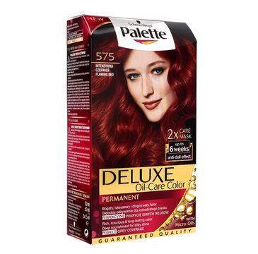 Palette Deluxe farba do każdego typu włosów permanentna nr 575 intensywna czerwień 110 ml