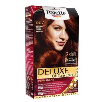 Palette Deluxe farba do każdego typu włosów permanentna nr 667 miedziany mahoń 100 ml
