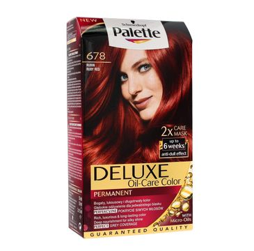 Palette Deluxe farba do każdego typu włosów permanentna nr 678 rubin 100 ml
