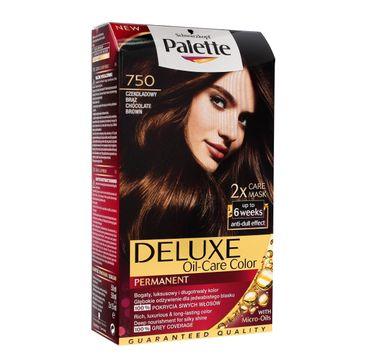 Palette Deluxe farba do każdego typu włosów permanentna nr 750 czekoladowy brąz 100 ml
