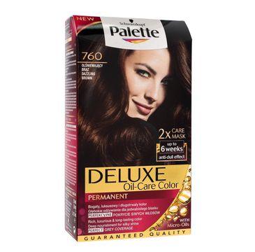 Palette Deluxe farba do każdego typu włosów permanentna nr 760 olśniewający brąz 100 ml