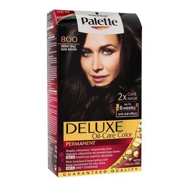 Palette Deluxe farba do każdego typu włosów permanentna nr 800 ciemny brąz 100 ml