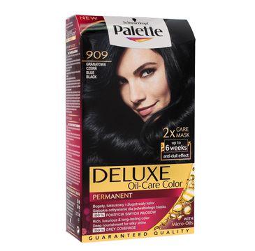 Palette Deluxe farba do każdego typu włosów permanentna nr 909 granatowa czerń 100 ml