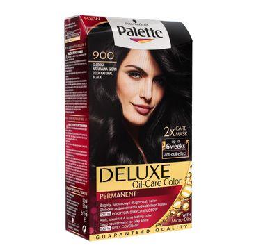 Palette Deluxe farba do włosów nr 900 głęboka naturalna czerń 100 ml