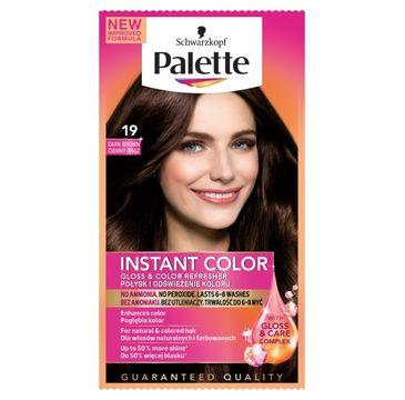 Palette Instant Color szamponetka do każdego typu włosów koloryzująca ciemny brąz nr 19 25 ml