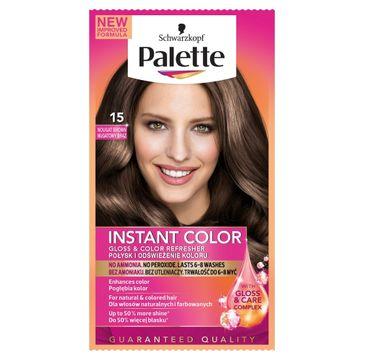 Palette Instant Color Szamponetka do każdego typu włosów koloryzująca Nugatowy Brąz nr 15  25 m;