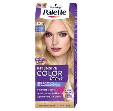 Palette Intensive Color Creme krem do każdego typu włosów koloryzujący nr E20 superjasny blond 50 ml