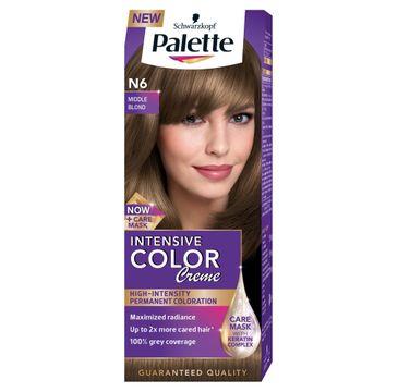 Palette Intensive Color Creme krem do każdego typu włosów koloryzujący nr N6 średni blond 50 ml