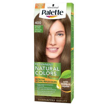Palette Permanent Natural Colors farba do każdego typu włosów średni blond nr 400 110 ml
