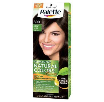 Palette Permanent Natural Colors krem do włosów koloryzujący ciemny brąz nr 800 50 ml