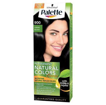 Palette Permanent Natural Colors krem do włosów koloryzujący głęboka czerń morska nr 900 50 ml