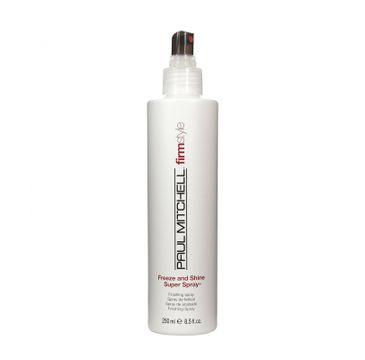 Paul Mitchell Freeze And Shine Super Spray bardzo mocny nabłyszczający lakier do włosów 250ml