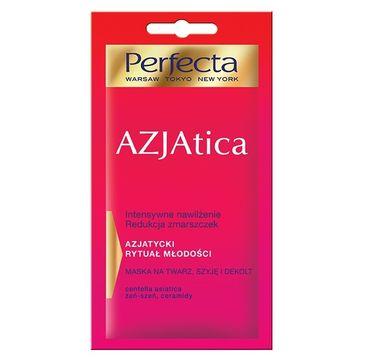 Perfecta Azjatica maska na twarz szyję dekolt redukująca zmarszczki 8 ml