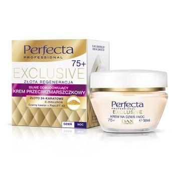 Perfecta Exclusive 75+ Krem przeciwzmarszczkowy silnie odbudowujący na dzień i noc  50 ml