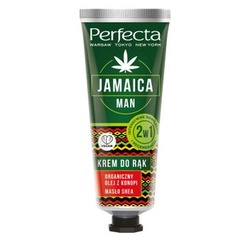 Perfecta Jamaica Man Krem do rąk intensywne nawilżenie i regeneracja 2w1 (80 ml)