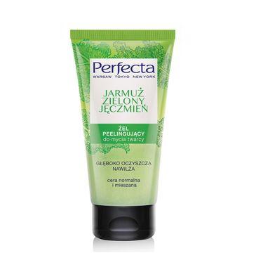 Perfecta Oczyszczanie Peelingujący Żel do mycia twarzy Jarmuż i Zielony Jęczmień 150 ml