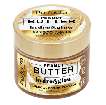 Perfecta Peanut Butter Cukrowy Peeling do ciała - extra rozświetlający (300 g)