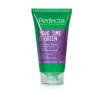 Perfecta Your Time Is Green glinkowa pasta do mycia twarzy przeciw niedoskonałościom 50 ml