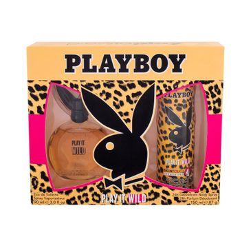 Playboy Play It Wild For Her zestaw woda toaletowa spray 90ml + dezodorant spray 150ml