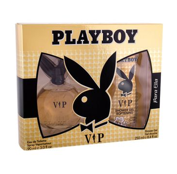 Playboy Vip For Her zestaw prezentowy woda toaletowa spray 90 ml + żel pod prysznic 250 ml