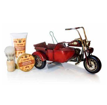 Pokhara – Vintage Motorcycle with Sidecar Shaving Gift For Men zestaw balsam po goleniu 150ml + mydło do golenia 50g + pędzel do golenia (1 szt.)