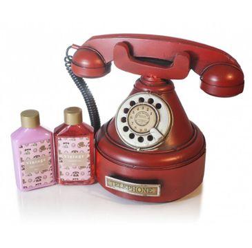 Pokhara – Vintage Red Telephone zestaw balsam do ciała 85ml + żel pod prysznic 85ml (1 szt.)
