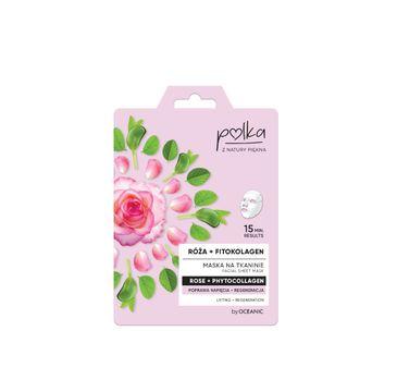 Polka – regeneracyjna maska na tkaninie Róża + Fitokolagen (1 szt.)
