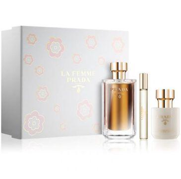Prada La Femme zestaw woda perfumowana spray 100 ml + woda perfumowana spray 10ml + balsam do ciała 100ml