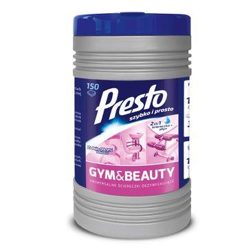 Presto Nawilżane Ściereczki czyszczące 2w1 Gym & Beauty  1op-150szt  (puszka)