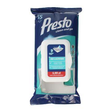 Presto Ściereczki czyszczące+płyn 2w1 do łazienki - zamknięcie pop up 1 op. - 55 szt.
