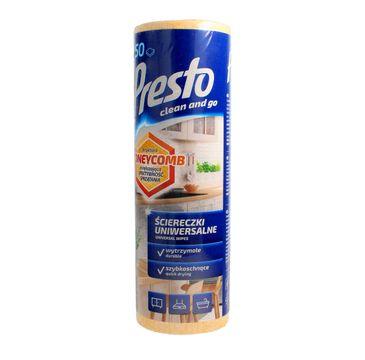 Presto uniwersalne ściereczki czyszczące Honeycomb - żółte rolka 1 op. - 50 szt.