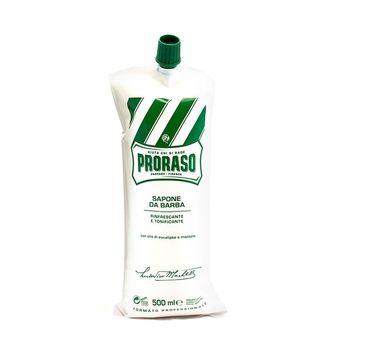 Proraso Sapone Da Barba odświeżające mydło do golenia z olejkiem eukaliptusowym i mentolem 500ml