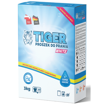 Tiger Proszek do prania białych tkanin  White (3 kg)