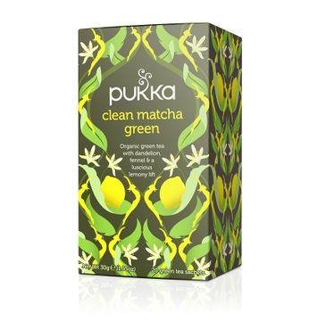 Pukka Clean Matcha Green organiczna herbatka zielona z matchą i cytryną 20 torebek