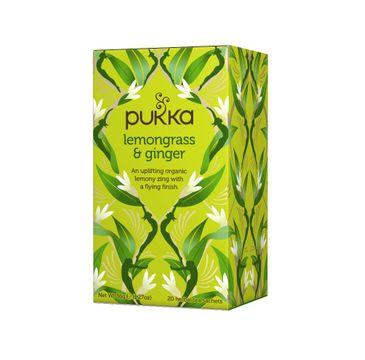 Pukka Lemongrass & Ginger organiczna herbatka z trawą cytrynową i imbirem 20 torebek